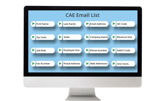 cae email list