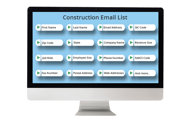 construction email list