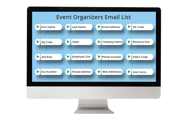 event organizers email list